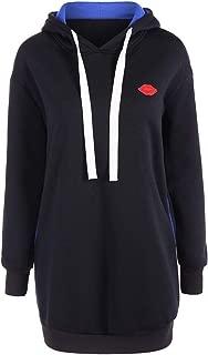 jkbfyt Women Autumn Loose Warm Pocket Pullover Drawstring Fleece Hoodie Tunic Sweatshirt