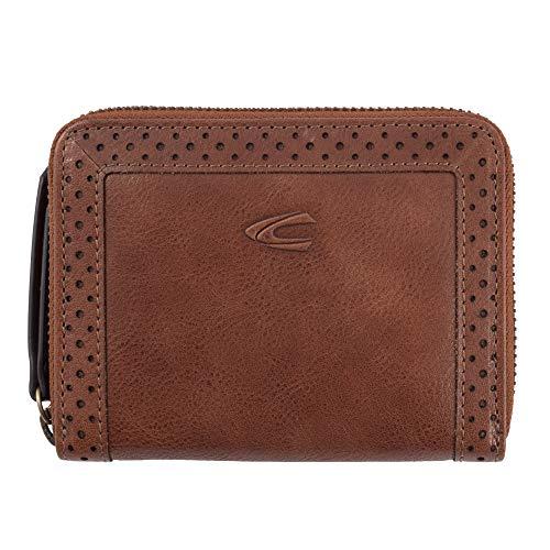 camel active, Geldbörse mit Reissverschluss, RFID, Damen, Brieftasche, Portmonnaie, Geldbörse mit Reissverschluss, Talara, Cognac