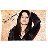 not Generic Custom Selena Gomez Signed Poster Pattern Black