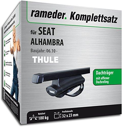 Rameder Komplettsatz, Dachträger SquareBar für SEAT Alhambra (116049-09009-8)