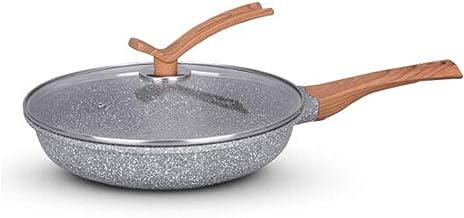 LJBH Pot, Wok, Frying Pan, Maifan Stone Frying Pan, Smokeless, Non-stick, Fried Steak, Omelet, Bright Black, 10.2 Inch (26...