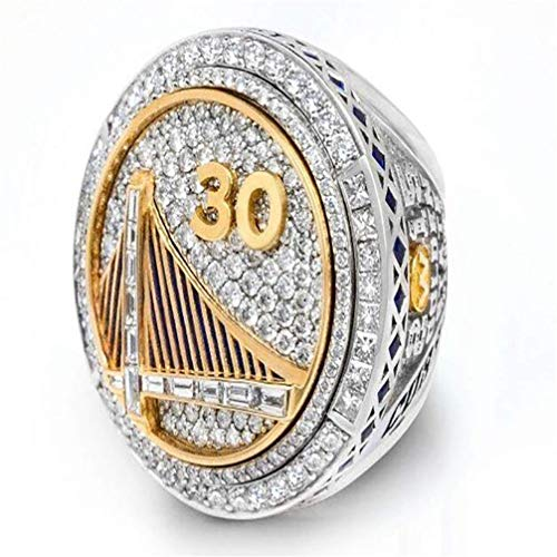 Elegante Semplicità Anello da Campionato per Uomo, 2015 Golden State Warriors Curry Replica Rings For Fans Collection Nba Misura 9-12,10, N-J, 10
