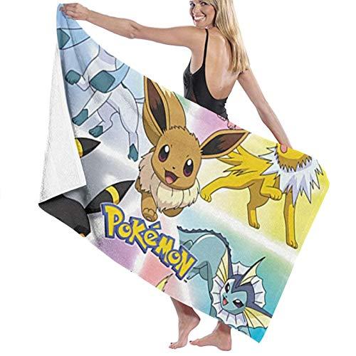 Custom made Pokemon Toalla rectangular para tomar el sol toalla de playa toalla de microfibra toalla de picnic manta de viaje 70 x 140 cm