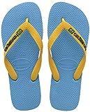 Havaianas Brasil Logo, Infradito Unisex-Bambini, Blu (Turquoise/Citrus Yellow 4361), 29/30 EU