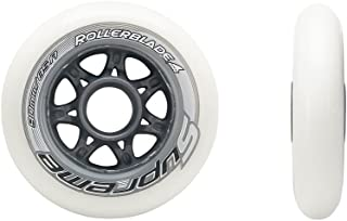 Rollerblade Supreme High Performance Skate Wheels (Pack of 8), White, 90mm