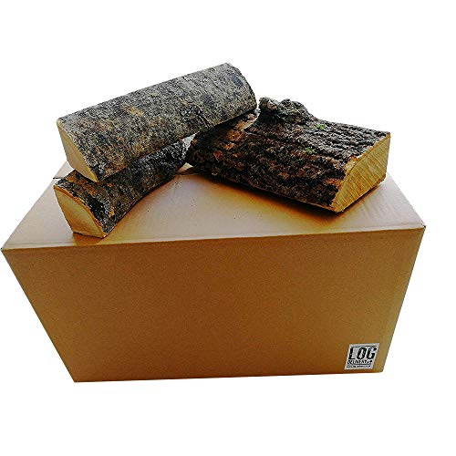 45 Litre Box of Kiln Dried Ash Logs-25cm Length, Best Firewood Hardwood Logs, 18% Moisture, Longer Burn Time - Perfect for Cooking Meats, Camp Fires, Stoves & Open Fireplaces