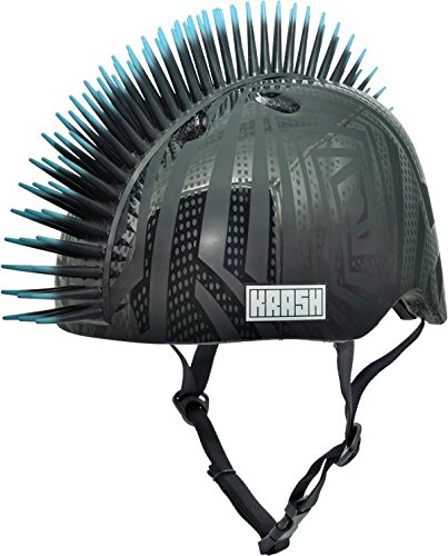 Krash Black Gator Youth Mohawk Helmet, ages 8-14