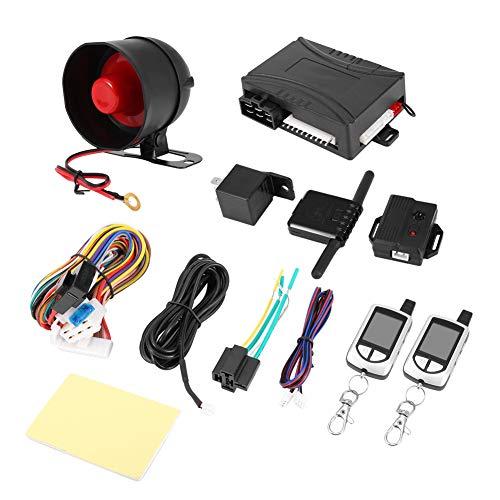 Alarma Coche, Alarma arranque remoto de dos vías Entrada sin llave Sistema de alarma de coche Seguridad del vehículo Buscapersonas Sistema de alarma de coche LB-