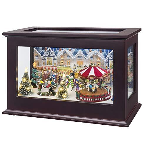 Mr. Christmas 23831 Heirloom Christmas Music Box Holiday Decoration, One Size, Multi