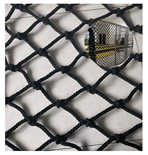 LLT Durable Safety Net Child Safety Net Protective Net Decoration Net Out Children's Outdoor Safety Net, Black Nylon Net, for Balcony Protection Net, Stair Anti-Fall Net, Multi-Functional Decorative