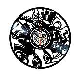 Musique Jazz Rock Musicien Instruments Guitare Notes Disque Vinyle Horloge Murale Cadeau