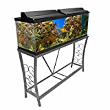 Aquatic Fundamentals 102552, 55 Gallon Metal Aquarium Stand, Classic Scroll Design, Gray