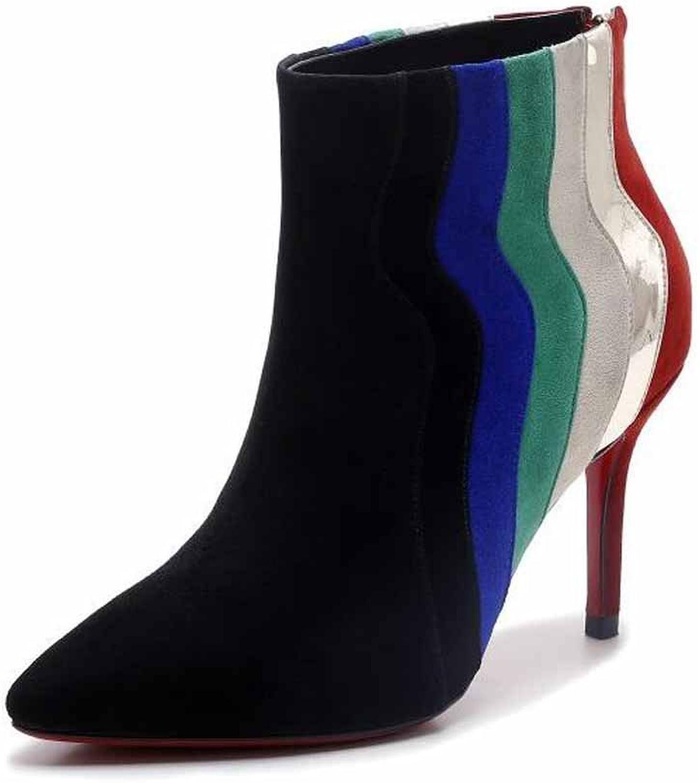 Women Modern Pumps 2017 Autumn Winter New High-heel Leather Boots