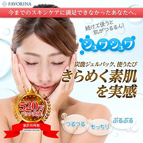 [フェヴリナ]FAVORINA【公式】フェブリナナノアクア炭酸パックジェル人気美容液マスク10回分スパチュラ(ヘラ)付き