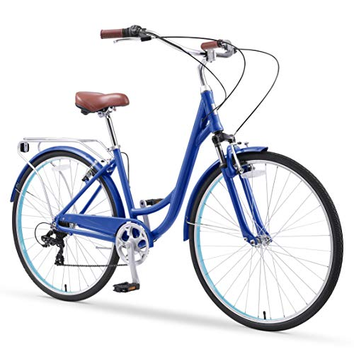 Affordable sixthreezero Body Ease Women's 7-Speed Committed Rider, Comfort Bike, Navy Blue, One Size
