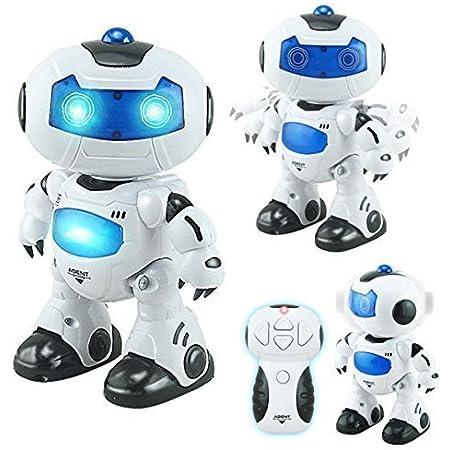 Juguetecnic Robot Teledirigido Interactivo Agent Bingo ¡Baila, Canta y Gira la Cabeza! | Efectos Luces y Sonido Electronico | Toy Robot Programable Juguete Infantil Regalo para Niños