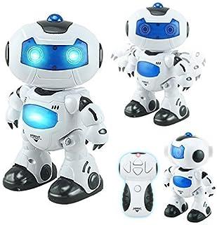 RC TECNIC Robot Teledirigido Interactivo Agent Bingo ¡Baila, Canta y Gira la Cabeza!   Efectos Luces y Sonido Electronico   Toy Robot Programable Juguete Infantil Regalo para Niños
