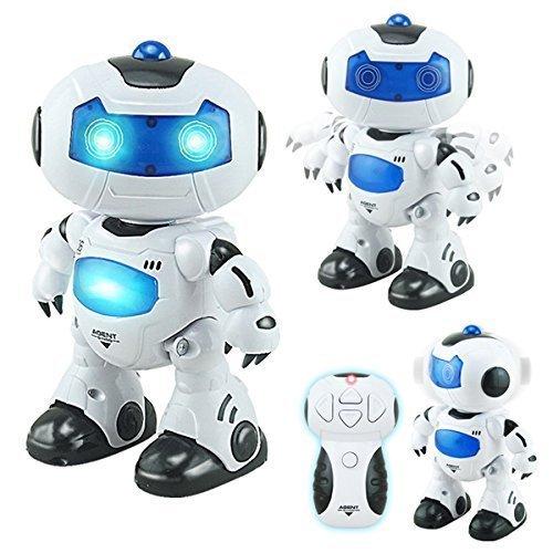 RC TECNIC Robot Teledirigido Interactivo Agent Bingo ¡Baila, Canta y Gira la Cabeza! | Efectos Luces y Sonido Electronico | Toy Robot Programable Juguete Infantil Regalo para Niños