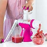 Champion Juicer Ice Cream Machines-Kitchen or Restaurant Hand-Cranked Reamer Children's Machine-Easy to Clean Deal Soft Ice Cream Maker Machine-Healthy Dessert Fruit Soft Serve Make (Green)