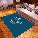 LGXINGLIyidian Casa Tappeto Modello di Arte del Fumetto Divertente Creativo Tappeto Morbido Antiscivolo per La Decorazione della Casa con Stampa 3D T-1718K 140X200Cm