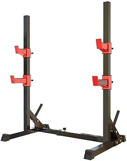 RSTJ Adjustable Weight Bench Adjustable Squat Rack Weight Lifting Bench Press Men's Fitness Barbell Rack Multifunctional S...