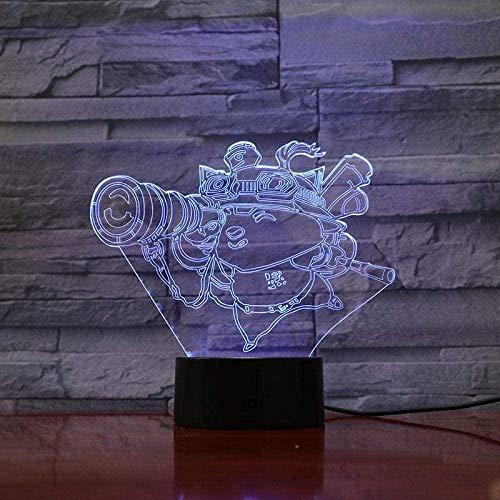 Lámpara 3D de ilusión de ilusión con LED de los Vengadores, superhéroes de Star Lord, figura USB para regalo de cumpleaños, lámpara de mesa dormitorio neon-B11-B7