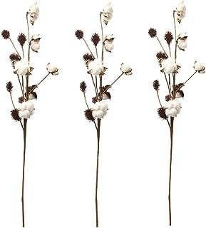 comprar comparacion Aisamco Paquete de 3 Tallos de algodón Decoración de Granja Selecciones Florales Relleno de florero de Estilo rústico Rama...