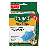 CURAD Germ Shield Maximum Barrier Face Mask with Earloops (10 Count)