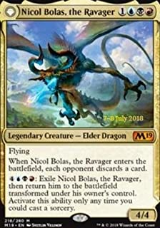 Magic: The Gathering - Nicol Bolas, the Ravager - Foil - Prerelease Promos