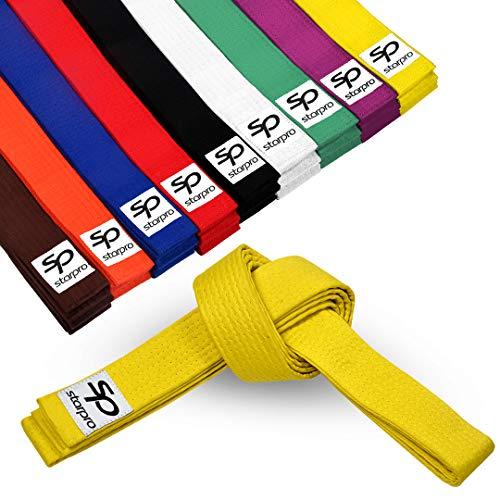 Starpro Martial Arts Grading Belt   7 Stich Baumwolle   9 Farben   Leichtes Design für Karate Judo Taekwondo Training und Wettkampf   240cm 280cm 320cm