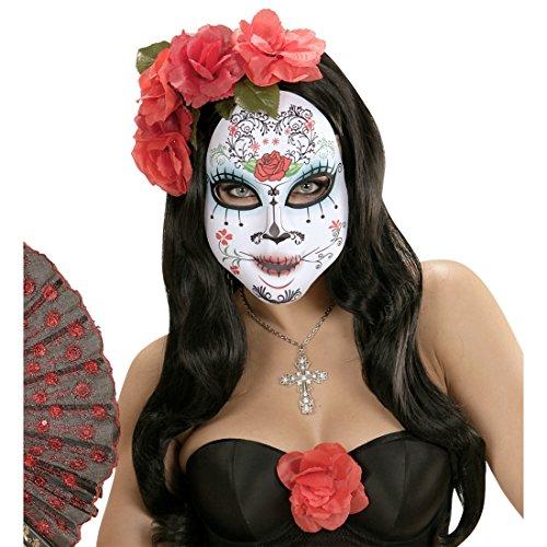NET TOYS Máscara Día de los Muertos Sugar Skull Antifaz Halloween...