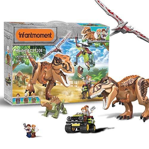 Juguetes Dinosaurio Bloques de construcción 319 Piezas, Momento Infantil, Juguete de Ingeniería de con 8 Modelos, Juguetes Educativos Stem Juguetes de Aprendizaje para Niños de 6 7 8 9Años De Edad