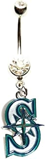 Seattle Mariners Baseball Team Navel Belly Button Ring Body Jewelry Piercing 14 Gauge