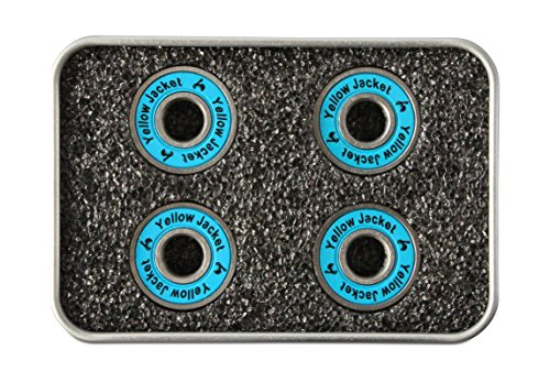 Yellow Jacket Premium Scooter Bearings, Kick Scooter, 608, ABEC 9, Bomber Blue (Pack of 4)