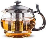 LHQ-HQ Conjuntos de té de vidrio hervidor de vidrio resistente al calor de vidrio tetera 880ml flor té set puer hervidor de café conveniente oficina Teaset filtrado tetera de té