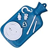 Best Colon Cleanse Enema Bag BPA Free with Tubing (2 Quart) Hot Water Bottle - Coffee, Shower, Douche & Home Adult Enema Kit by Immunaturals, Blue