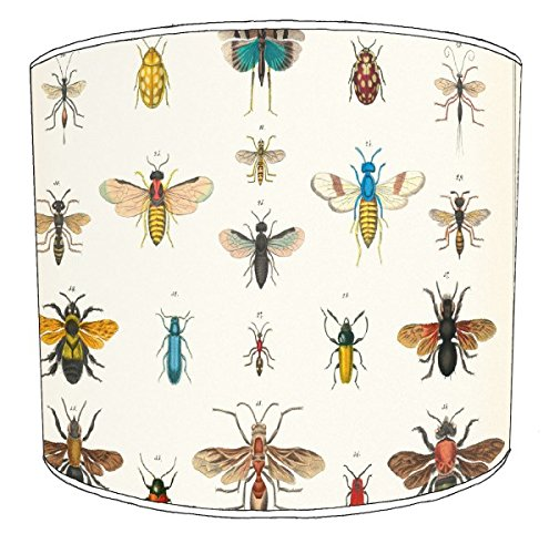 Premier Lighting Ltd 12 inch Insects cavallini Style Drum Shade pour Une Lampe de Table
