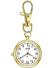 ナースウォッチ 懐中時計 キーホルダー ポケットウォッチ 見やすく大きい 文字盤 夜光 クオーツ 男女兼用 …