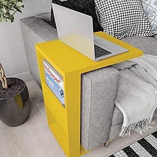 Mesa Apoio Book Líder Design Caemmun Amarelo