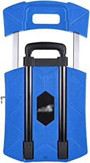 Cargo Trolley, Small Cart Portable Folding Bike Flatbed Truck Family Car Carrying Cart Universal Wheeled Cart Size 31 * 44.5 * 11CM (Color : Blue)