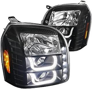 Spec-D Tuning 2LHP-DEN07JM-V2-TM GMC Yukon XL Denali 1500/2500 Black Halo LED Projector Headlights