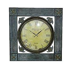 Essential Decor Entrada Collection 36x36x3.5 Metal Wall Clock