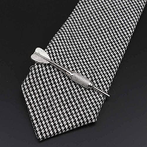1 pasador de corbata de acero inoxidable cromado para hombre, regalo (metal color: 4)