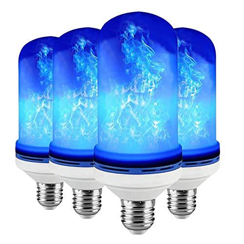 EFGS LED Glühbirne, Flamme Lampe Flackerlicht E27 Birne Leuchtmittel LED Bulb für Hause, Hochzeit,Weihnachten Dekoration,4PACK
