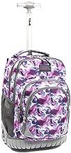 Tilami Kids Rolling Backpack 18 inch Boys and Girls Laptop Backpack, Purple