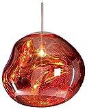 Lampenschirm Hängelampe, Moderne Hängelampe Esstisch Fassung E27, Pendellampe Glas Lava Unregelmäßige Kugellampe Deckenlampe für Hängende Wohnzimmer Schlafzimmer Restaurant Home