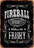Fireball Whiskey Póster de Pared Metal Creativo Placa Decorativa Cartel de Chapa Placas Vintage Decoración Pared Arte para Carretera Bar Café Tienda