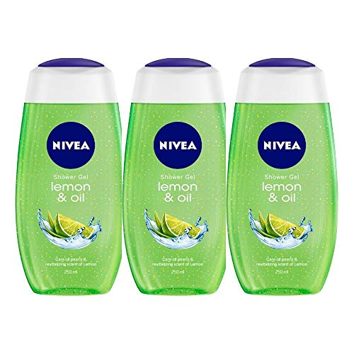 Nivea Lemon and Oil Shower Gel, 250ml (Pack of 3)
