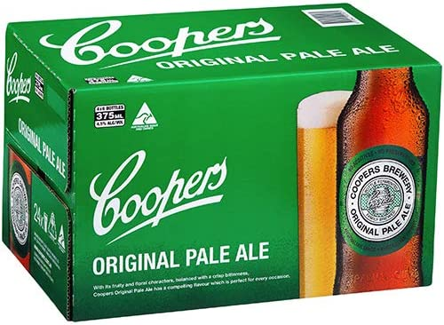 Coopers Original Pale Ale Stubbies (4x6 Pack 375mL) Case