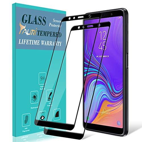 TAURI Samsung Galaxy A7 2018 Schutzfolie Folie [2 Stück], [Volle Abdeckung] [9H Härte] Gehärtetem Glas Folie Hartglas Bildschirmschutzfolie - Schwarz